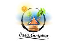 Loga plażowy campingowy raj Obraz Stock