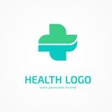 Loga projekta abstrakcjonistyczny medyczny wektorowy szablon Fotografia Stock