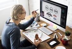 Loga projekta Biznesowego domu pojęcie Obraz Stock