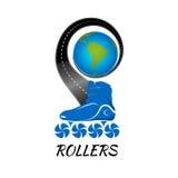 Loga rolkowy łyżwiarstwo również zwrócić corel ilustracji wektora Zdjęcia Stock