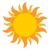loga słońce Zdjęcia Royalty Free