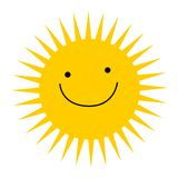 loga słońce Obrazy Royalty Free