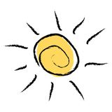 loga słońce Obraz Royalty Free