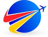 loga samolot Zdjęcie Royalty Free