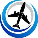 loga samolot Fotografia Royalty Free