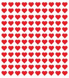 Loga serca ilustracja czerwony kierowy projekt ikony mieszkanie Nowożytny płaski valentine miłości znak Fotografia Stock