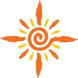 loga słońce Zdjęcie Royalty Free