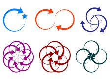 loga strzałkowaty kształt Obrazy Royalty Free