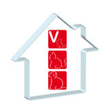 loga szpitalny veterinary Obrazy Stock