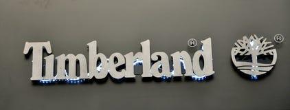 loga timberland Fotografia Stock