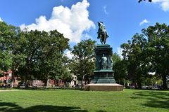 Logan Circle Park dans le Washington DC Photos libres de droits