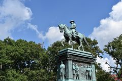 Logan Circle Park in Washington DC stock photography