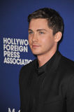 Logan Lerman. BEVERLY HILLS, CA - AUGUST 14, 2014: Actor Logan Lerman at the Hollywood Foreign Press Association's annual Grants Banquet at the Beverly Hilton Royalty Free Stock Photo