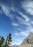 Logan pass,clouds. Glacier National Park, Montana stock image