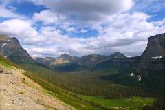 Logan Pass Forests Glacier National parkerar royaltyfri bild