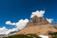 Logan pass Mountain landscape in Glacier national park Stock Photos