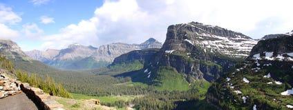 Logan Pass panorama Royalty Free Stock Images