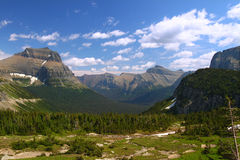 Logan Pass Scenery - Glacier NP Stock Photography