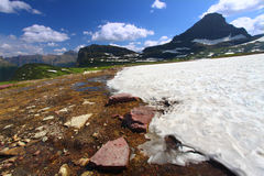 Logan Pass Snowfall Stock Photography