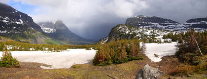 Logan pass before storm Royalty Free Stock Photos