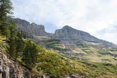 Logan Pass Vista imagens de stock royalty free