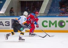Logan Payet (39) contro Gharkov Pavel (25) Fotografie Stock