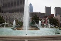 Logan Square Fountain in Philadelphia royalty free stock photo