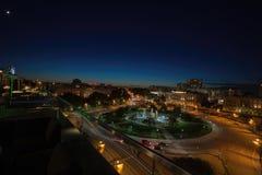 Logan Square, Philadelphia bij Nacht stock afbeelding