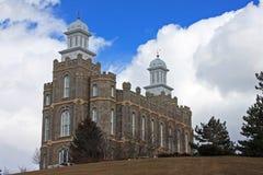 Logan Temple. In Utah, USA Stock Image