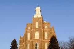 Logan Utah Temple av mormonkyrkan royaltyfri fotografi