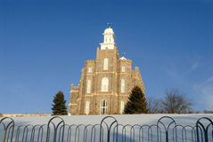 Logan Utah Temple da igreja de mórmon imagem de stock