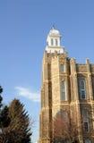 Logan Utah Temple da igreja de mórmon imagens de stock royalty free