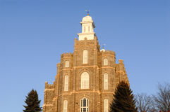 Logan Utah Temple of the Mormon Church. The Logan Temple of the Church of Jesus Christ of Latter-day Saints is located in Logan, Utah. This temple was started in Royalty Free Stock Photography