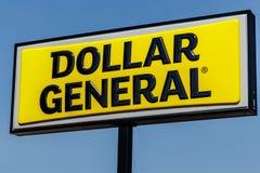 Logansport - τον Ιούνιο του 2018 Circa: Γενική λιανική θέση δολαρίων Το δολάριο γενικό είναι λιανοπωλητής ΙΙ έκπτωσης μικρός-κιβω στοκ εικόνες με δικαίωμα ελεύθερης χρήσης