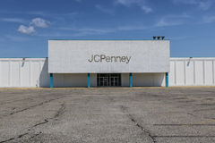 Logansport - Circa August 2017: Recently shuttered J.C. Penney Mall Location X Royalty Free Stock Photo