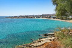 Logaras beach in Paros, Greece royalty free stock image