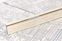 Logarithm ruler Stock Photos