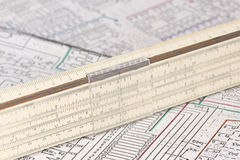 Logarithm ruler Stock Images