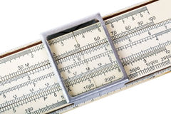 Logarithm ruler Stock Image