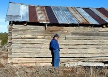 logarithme naturel abandonné de cabine photographie stock