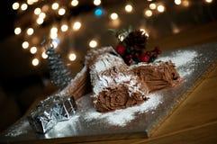 Logarithme naturel de Yule de Noël images libres de droits