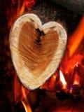 Logarithme naturel en forme de coeur Photos stock