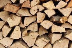 Logarithmes naturels en bois Photo libre de droits