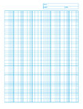 Logarithmic engineering graph paper. For desidning and planing royalty free illustration