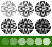 Logarithmic spirals with thinner and thicker lines Royalty Free Stock Image
