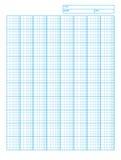 Logarithmisches TechnikZeichenpapier mit Maßeinteilung Stockfotos