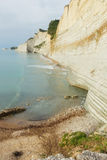 Logas Beach on Corfu Island, Greece. Logas beach at Peroulades village at Corfu island, Greece Stock Photo