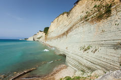 Logas beach. At Peroulades village at Corfu island, Greece Stock Images