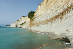 Logas beach. At Peroulades village at Corfu island, Greece Royalty Free Stock Photography