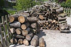 Logboekstapel stock afbeelding